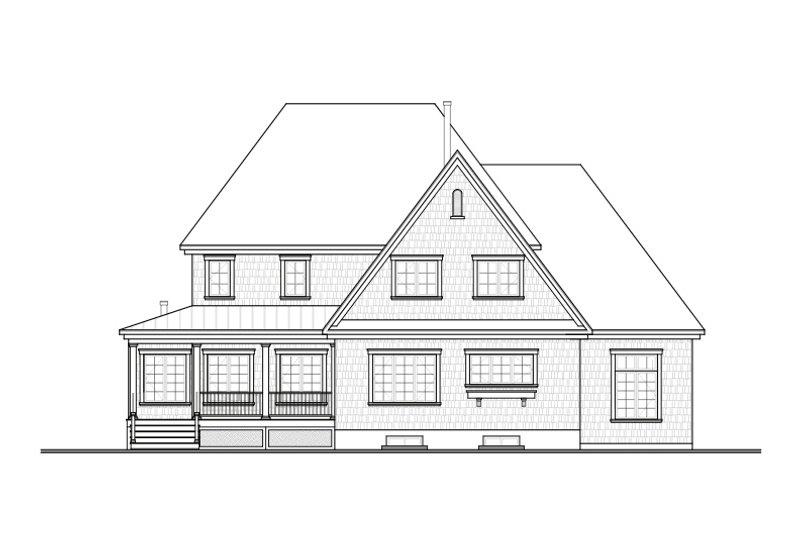 Country Exterior - Rear Elevation Plan #23-406 - Houseplans.com