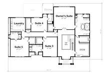 Classical Floor Plan - Upper Floor Plan Plan #20-2385