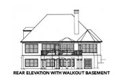 Traditional Style House Plan - 3 Beds 3.5 Baths 2860 Sq/Ft Plan #429-23 Exterior - Other Elevation