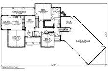 Ranch Floor Plan - Main Floor Plan Plan #70-1499