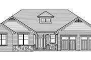 Craftsman Style House Plan - 3 Beds 2 Baths 1708 Sq/Ft Plan #46-897 Exterior - Front Elevation