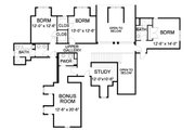 Traditional Style House Plan - 5 Beds 4.5 Baths 4921 Sq/Ft Plan #490-21 Floor Plan - Upper Floor Plan