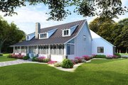 Farmhouse Style House Plan - 5 Beds 3 Baths 2860 Sq/Ft Plan #923-106 Exterior - Rear Elevation