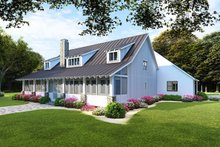 Farmhouse Exterior - Rear Elevation Plan #923-106