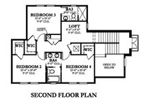 Mediterranean Floor Plan - Upper Floor Plan Plan #1058-147