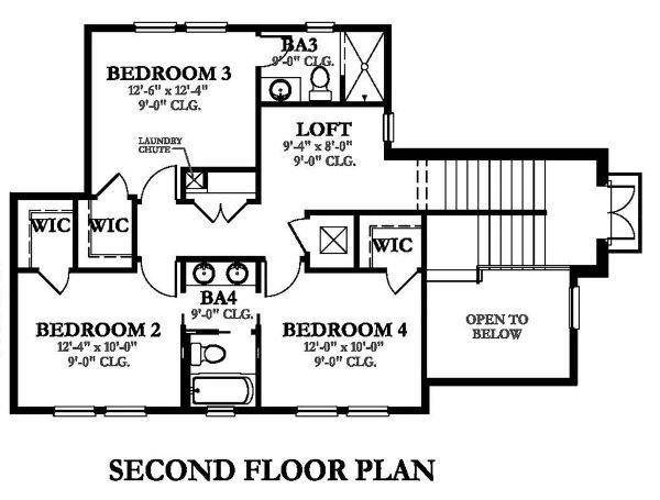 Dream House Plan - Mediterranean Floor Plan - Upper Floor Plan #1058-147