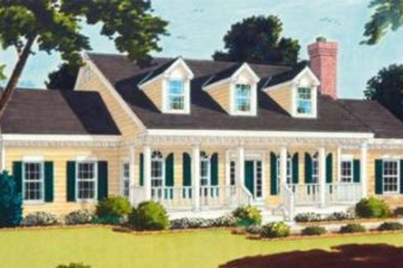 Southern Exterior - Front Elevation Plan #3-181