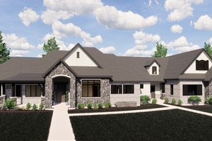 Dream House Plan - European Exterior - Front Elevation Plan #920-113