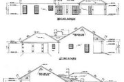 Ranch Style House Plan - 3 Beds 2 Baths 2019 Sq/Ft Plan #36-188 Exterior - Rear Elevation