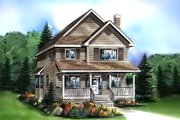 Cottage Style House Plan - 3 Beds 3 Baths 1722 Sq/Ft Plan #18-289 Exterior - Front Elevation
