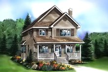 House Plan Design - Cottage Exterior - Front Elevation Plan #18-289