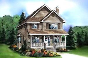 Cottage Exterior - Front Elevation Plan #18-289