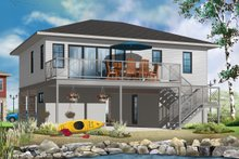 Contemporary Exterior - Rear Elevation Plan #23-2591