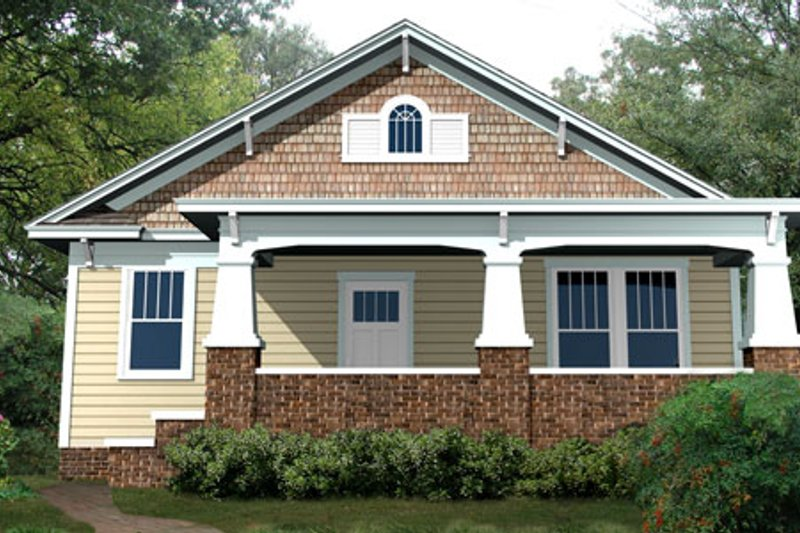 Craftsman Style House Plan - 3 Beds 2 Baths 1630 Sq/Ft Plan #461-7 Exterior - Front Elevation
