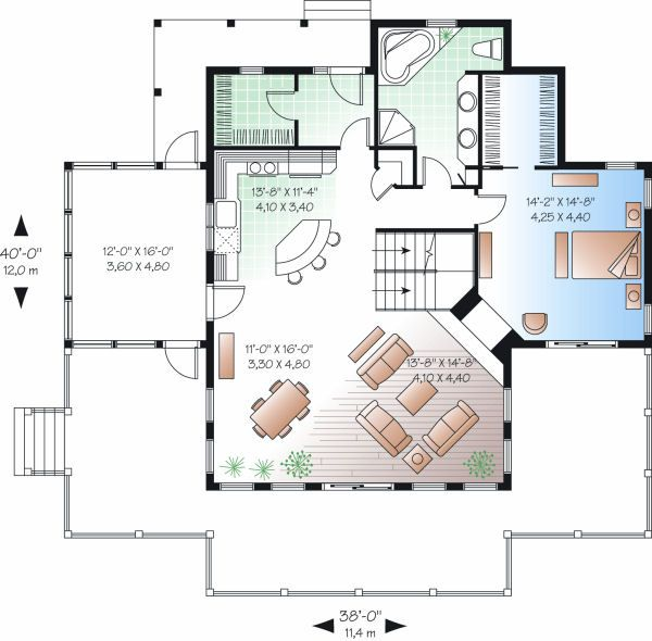 Country Floor Plan - Main Floor Plan Plan #23-849