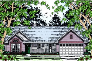 Home Plan - Country Exterior - Front Elevation Plan #42-385