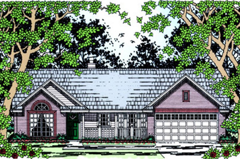 Country Exterior - Front Elevation Plan #42-385