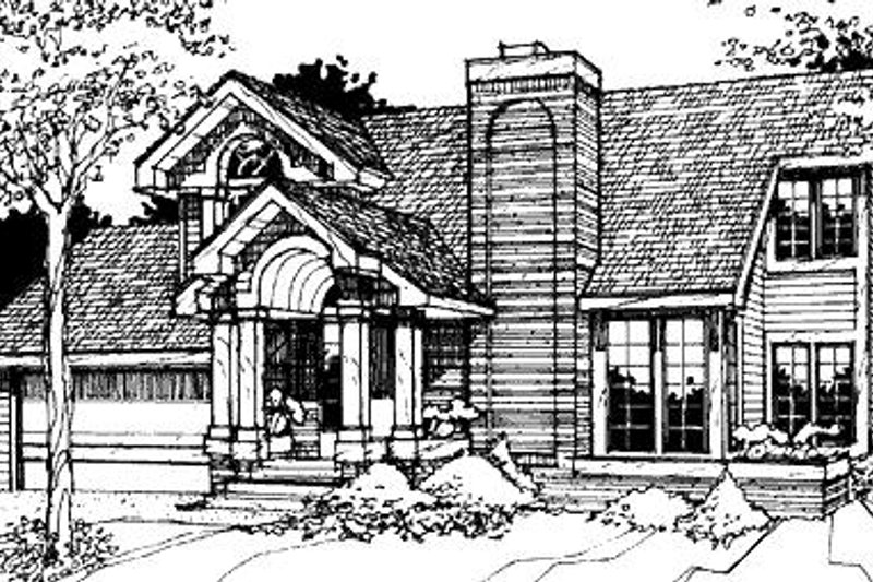 Modern Exterior - Front Elevation Plan #320-477