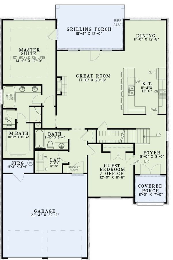 Tudor Floor Plan - Main Floor Plan Plan #17-3405