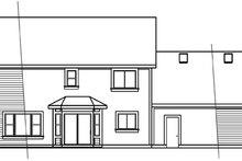 Dream House Plan - Colonial Exterior - Rear Elevation Plan #124-715