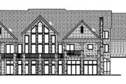 Bungalow Style House Plan - 2 Beds 2.5 Baths 3887 Sq/Ft Plan #312-707 Exterior - Rear Elevation