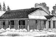 Country Exterior - Front Elevation Plan #410-395