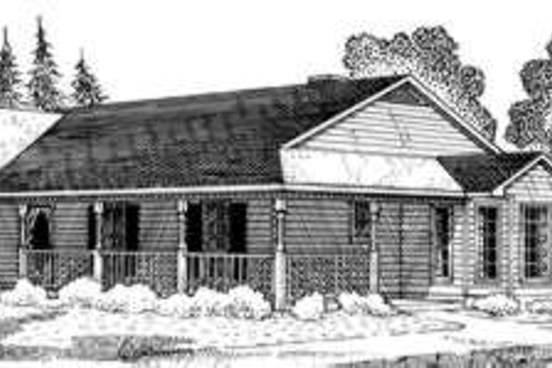 Home Plan - Country Exterior - Front Elevation Plan #410-395