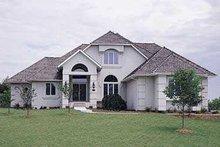 House Blueprint - European Exterior - Front Elevation Plan #72-169