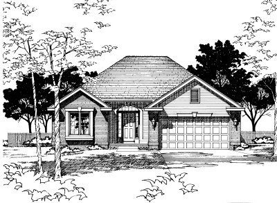 Traditional Exterior - Front Elevation Plan #20-142 - Houseplans.com