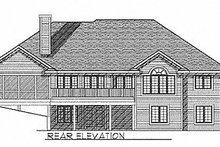 Dream House Plan - Traditional Exterior - Rear Elevation Plan #70-301