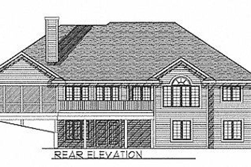 Traditional Exterior - Rear Elevation Plan #70-301 - Houseplans.com