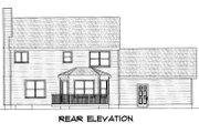 Colonial Style House Plan - 3 Beds 2.5 Baths 1851 Sq/Ft Plan #75-110 Exterior - Rear Elevation