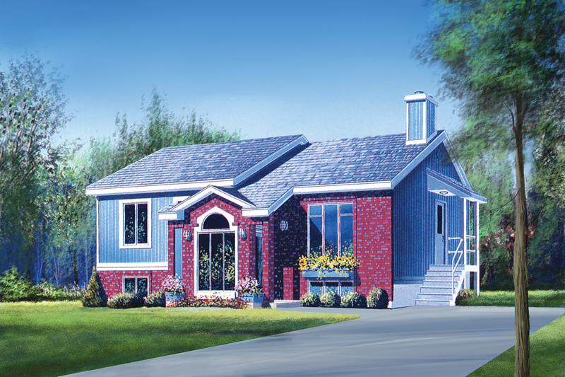 Traditional Style House Plan - 2 Beds 1 Baths 1005 Sq/Ft Plan #25-1180 Exterior - Front Elevation