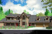 European Style House Plan - 6 Beds 4.5 Baths 3710 Sq/Ft Plan #303-348 Exterior - Front Elevation
