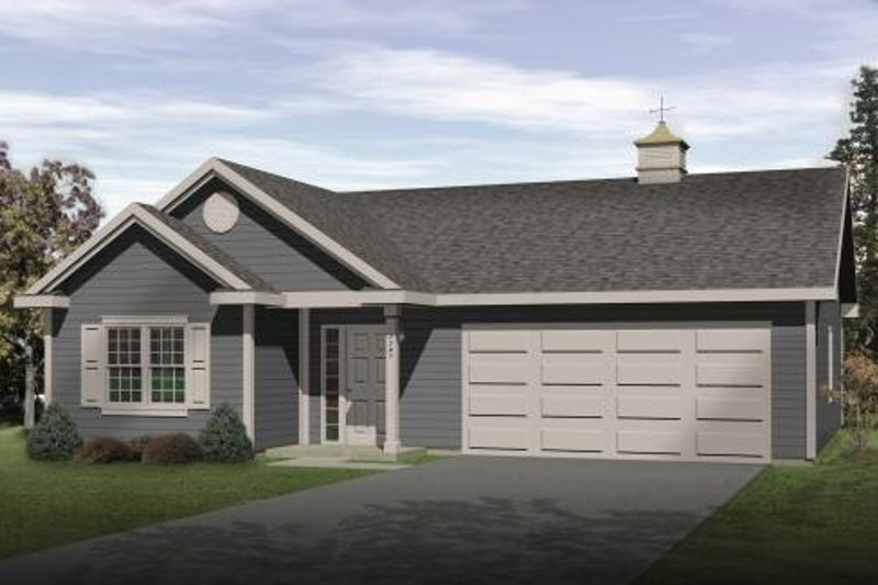 House Plan Design - Traditional Exterior - Front Elevation Plan #22-416