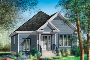 Country Exterior - Front Elevation Plan #25-4647