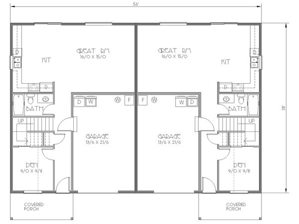 Cottage Floor Plan - Main Floor Plan Plan #423-52