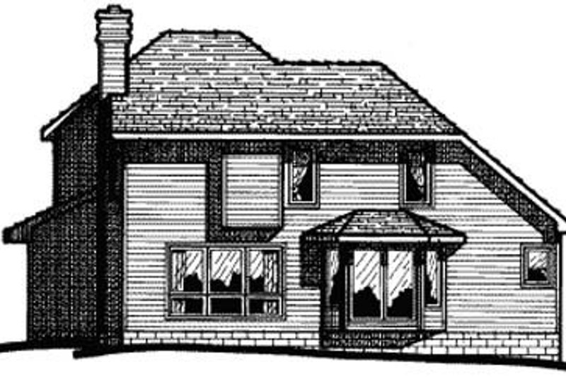 Craftsman Exterior - Rear Elevation Plan #20-610 - Houseplans.com