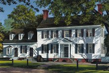 Dream House Plan - Colonial style, Southern design home, front elevation