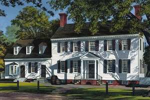 Colonial style, Southern design home, front elevation