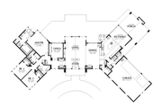 Contemporary Style House Plan - 3 Beds 2.5 Baths 3278 Sq/Ft Plan #48-699 Floor Plan - Main Floor Plan