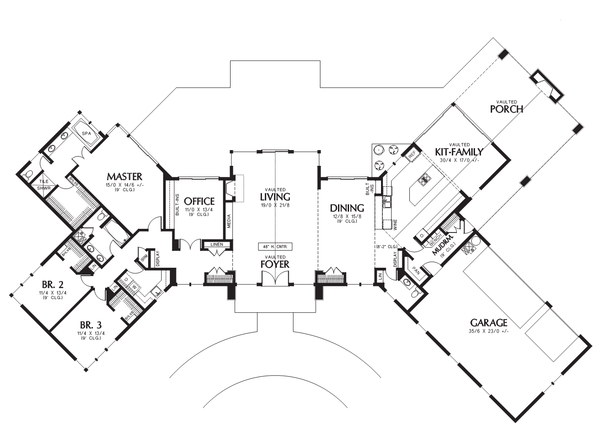 Contemporary Floor Plan - Main Floor Plan Plan #48-699