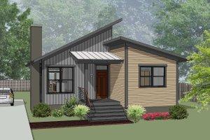 Modern Exterior - Front Elevation Plan #79-292