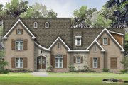 European Style House Plan - 5 Beds 4.5 Baths 5351 Sq/Ft Plan #424-384 Exterior - Front Elevation