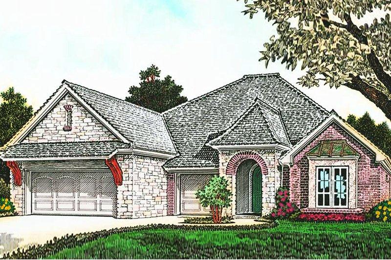 Dream House Plan - European Exterior - Front Elevation Plan #310-1283