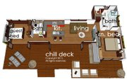 Modern Style House Plan - 2 Beds 2 Baths 860 Sq/Ft Plan #484-5 Floor Plan - Main Floor Plan
