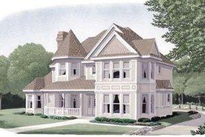 Victorian Exterior - Front Elevation Plan #410-187