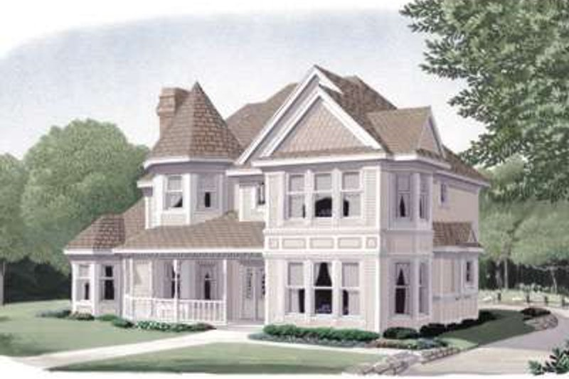 Victorian Style House Plan - 3 Beds 3 Baths 2406 Sq/Ft Plan #410-187 Exterior - Front Elevation