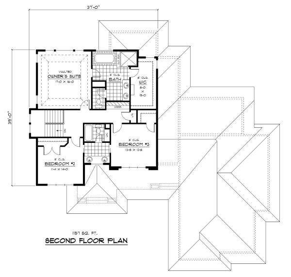 Prairie Floor Plan - Upper Floor Plan #51-283