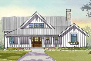 Farmhouse Exterior - Front Elevation Plan #901-110